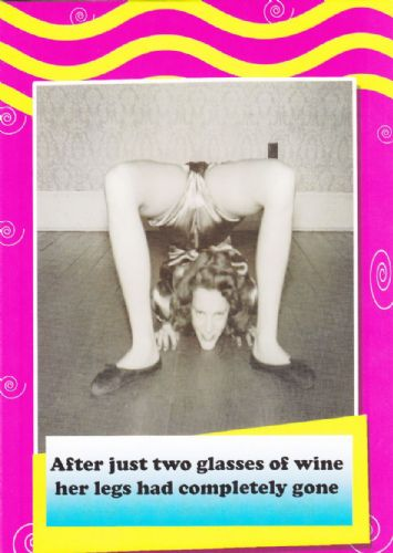 After just two glasses...  - Birthday Card